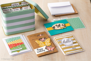 stampin up tin of cards project kit