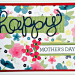 stampin up hello you thinlits dies and crazy about you stamp set mother's day card