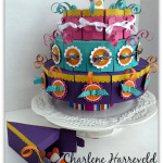stampin up paper cake with individual paper cake treat boxes