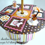 american girl patio table made with stampin up big shot pennant die