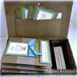 stampin up personalized name stamp stationery gift box
