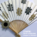 asian paper fan stampin up