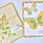stampin up bold butterfly framelits dies greeting cards