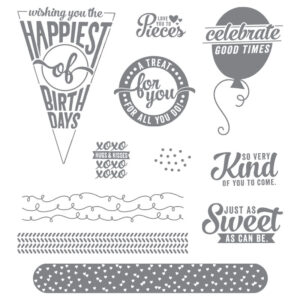 sweet stack photopolymer stamp set by stampin up