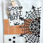happy haunting stampin up designer series paper holloween treat bag