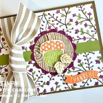 into the woods stampin up designer series paper acorny thank you stamp set acorn builder punch