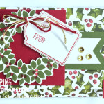 season of cheer designer series paper stampin up gift card holder