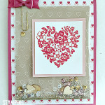 stampin up bloomin love stamp set shaker card