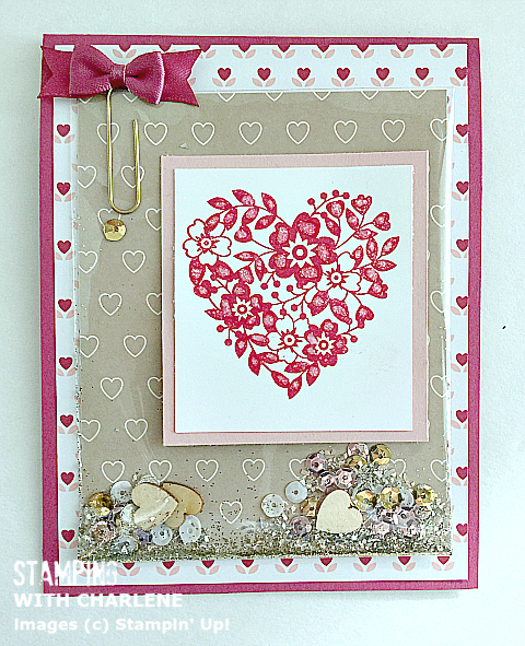 Stampin Up Bloomin Love Stamp Set Shaker Card