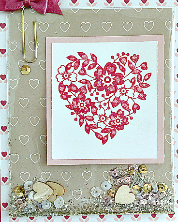 stampin up love blossoms embellishment it shaker card