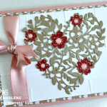 stampin up bloomin hearts thinlits die valentines day card
