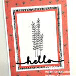 wildflower fields designer series paper stampin up hello greeting card
