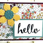 wildflower fields designer series paper hello greeting card