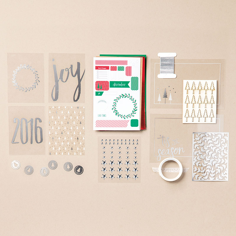 stampin up hello december 2016 project life