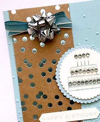 mini gift bows from stampin up